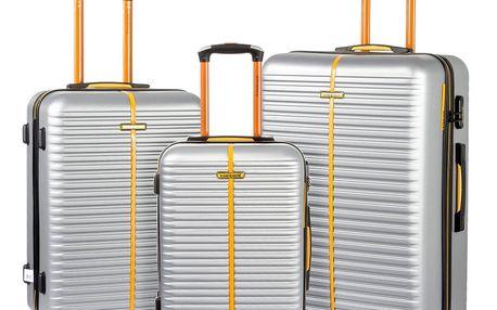 Sada 3 šedých cestovních kufrů na kolečkách Travel World Amazonia