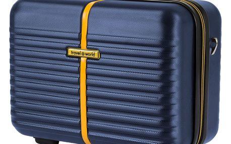 Modrý kosmetický kufřík Travel World, 28 x 35 cm