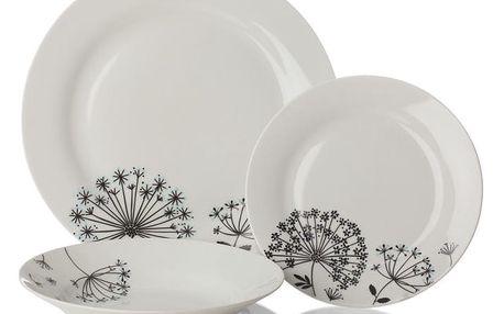12dílný porcelánový set nádobí Sabichi Dandelion