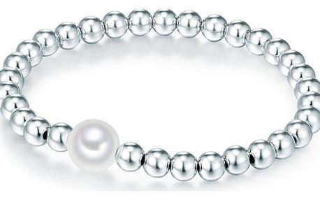 Perlový náramek Nova Pearls Copenhagen Claire, délka 17-20cm