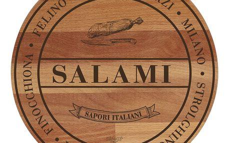 Prkénko z bukového dřeva Bisetti Broad Salami,30cm