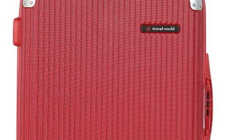 Červené kabinové zavazadlo Travel World Luxury, 55 x 34 cm