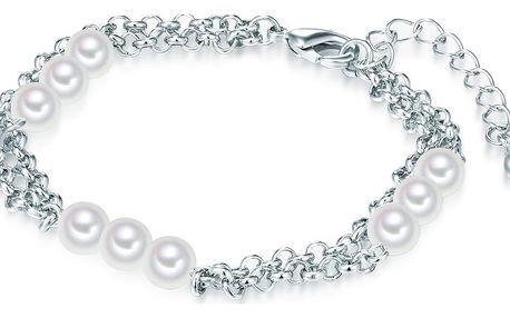 Perlový náramek Nova Pearls Copenhagen Chloé, délka 17-20cm