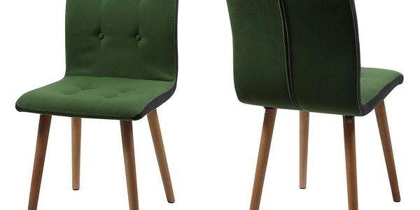 Sada 2 zelených jídelních židlí Actona Frida