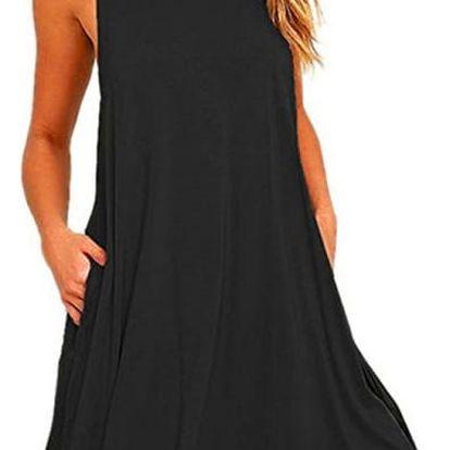 Ležérní jednobarevné šaty - 4 barvy