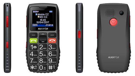 Mobilní telefon Aligator A440 Senior (A440BG) černý/šedý