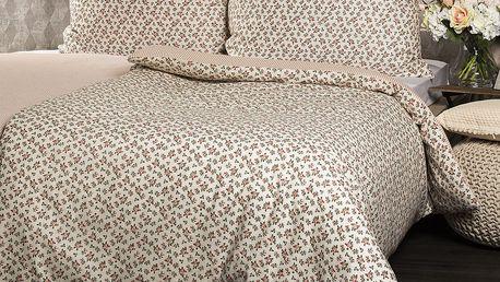 Jahu Bavlněné povlečení Flower oranžová, 140 x 200 cm, 70 x 90 cm