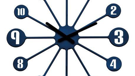 Koziol Nástěnné hodiny Pinball modrá, pr. 45 cm