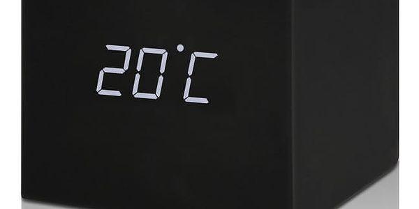 Černý LED budík Gingko Gravitry Cube4
