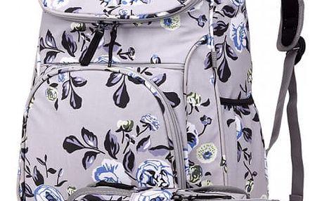 SET: Dívčí šedý školní batoh Lola 1743