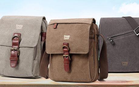 Unisex tašky přes rameno: khaki, hnědá i černá