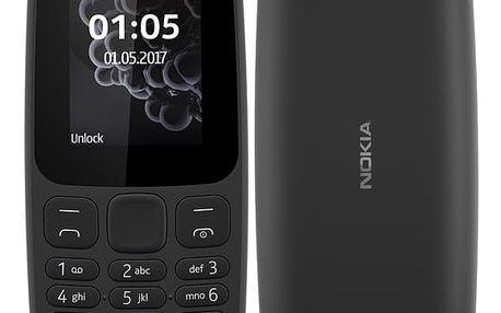Mobilní telefon Nokia 105 Dual SIM 2017 černý (A00028348)
