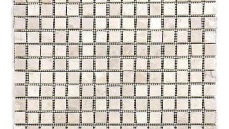 Divero Garth 27855 Mramorová mozaika krémová 30 x 30 cm 1 ks