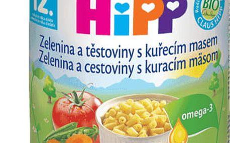 6x HIPP zelenina s těstovinami a kuřetem (220 g) - maso-zeleninový příkrm