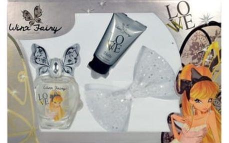 Winx Fairy Couture Stella dárková kazeta pro ženy toaletní voda 100ml + tělové mléko 75 ml + spona do vlasů