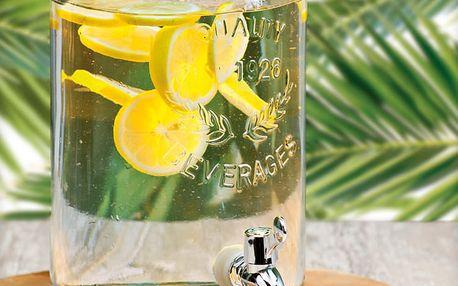 Skleněná nádoba s kohoutkem a víkem - dávkovač nápojů, 5,5 l EH Excellent Houseware