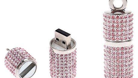 Flash disk USB 8 GB – válec růžová
