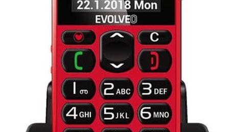 Mobilní telefon Evolveo EasyPhone EP-500 (EP-500-RED) červený