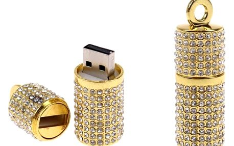 Flash disk USB 8 GB – válec zlatá