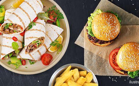 Miniburgery nebo tortilly, hranolky a Coleslaw