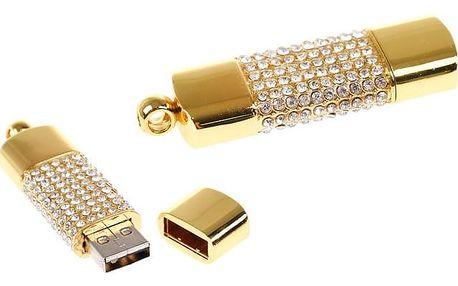 Flash disk USB 8 GB – šperk zlatá