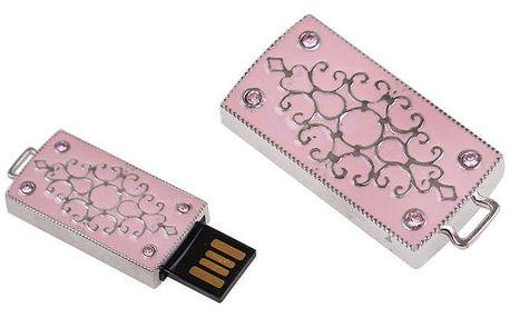 Flash disk USB 8 GB – růžová
