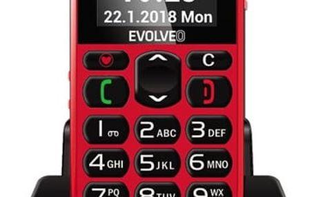 Mobilní telefon Evolveo EasyPhone EP-500 červený (EP-500-RED)