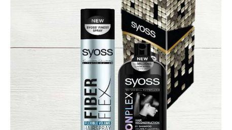 SYOSS Salon Plex & Fiber Flex Syoss Salon Plex šampon 500 ml + Syoss Fiber Flex lak na vlasy 300 ml