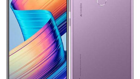 Mobilní telefon Honor Play (51092SMD) fialový SIM karta T-Mobile 200Kč Twist Online Internet v hodnotě 200 Kč