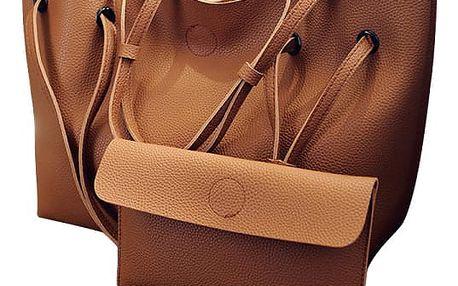 Dámská kabelka + psaníčko - Hnědá barva - dodání do 2 dnů