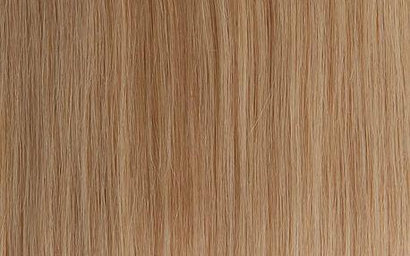 Vlasy s keratinem - 60 cm světlá blond 50 pramenů