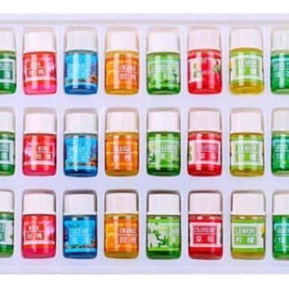 Maxi sada 36ks vonných esenciálních olejů - Aromaterapie. 36 olejů po 3ml v jedné lahvičce.
