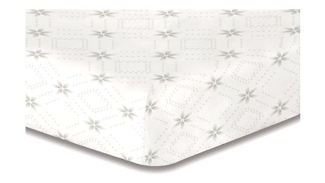 DecoKing Prostěradlo Snowynight šedá S2 mikrovlákno, 160 x 200 cm, 160 x 200 cm