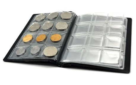 Kniha na sbírání mincí