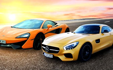 Zážitková jízda ve vozech Mercedes AMG GTS a McLaren