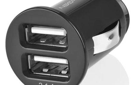 Adaptér do auta GoGEN CH 21, 2x USB černý (GOGCH21)