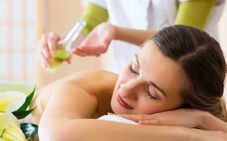Hodinová masáž podle výběru a aroma lázeň