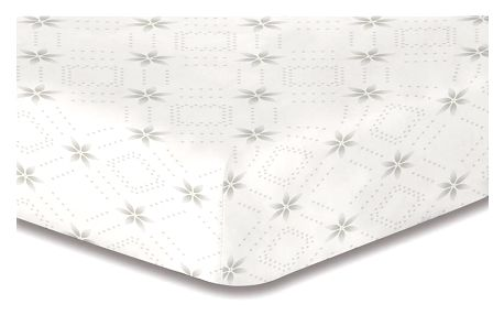 DecoKing Prostěradlo Snowynight šedá S2 mikrovlákno, 160 x 200 cm
