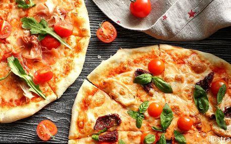 Dvě křupavé pizzy dle výběru v centru Ostravy