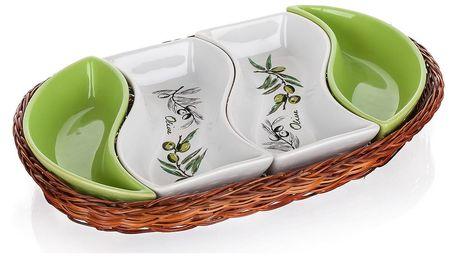 Banguet Olives Servírovací mísy v košíku 30,5 cm
