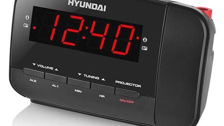 Radiobudík Hyundai RAC 481 PLLBR černý/červený