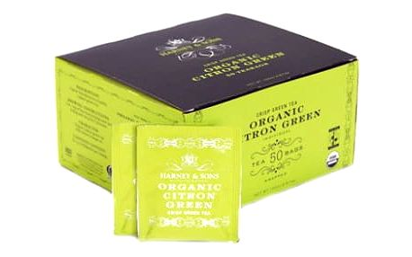 Harney & Sons BIO zelený čaj s citronem 50 sáčků