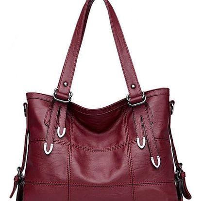 Velká dámská kabelka - vínová barva - dodání do 2 dnů