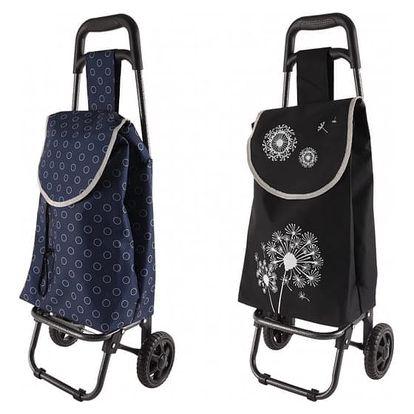 Nákupní taška na kolečkách FLOWER/MODERN