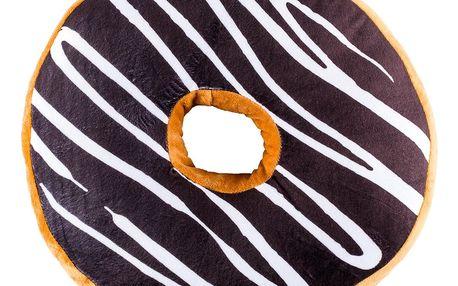 Jahu Tvarovaný polštářek Donut hnědá, 38 cm