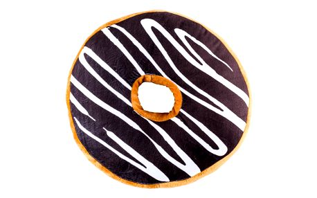 Jahu Tvarovaný polštářek Donut tmavě fialová, 38 cm
