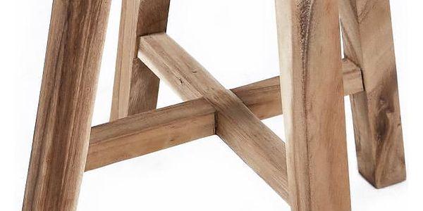 DIVERO 6144 Stolička kulatá z masivního SUAR dřeva4