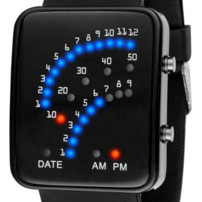 Pánské binární hodinky se silikonovým páskem - 2 barvy
