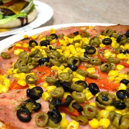 Pizza dle výběru, zapečené těstoviny nebo burger