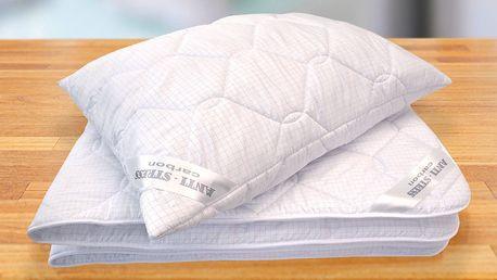 Přikrývky a polštáře s karbonovými vlákny